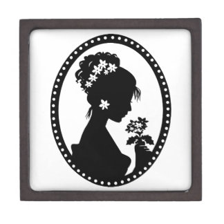 Victorian Cameo Silhouette Premium Trinket Boxes