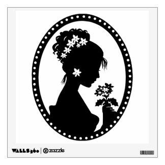 Victorian Cameo Silhouette Wall Sticker
