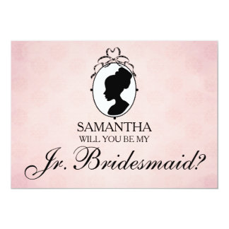 Victorian Cameo Will You Be My Jr. Bridesmaid Card