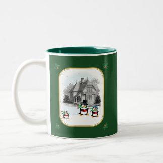 Victorian Caroling Penguins Mug