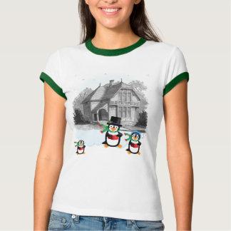 Victorian Caroling Penguins Shirt
