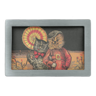 Victorian Cat and Dog Chums Belt Buckles