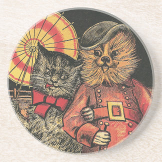 Victorian Cat and Dog Chums Coaster