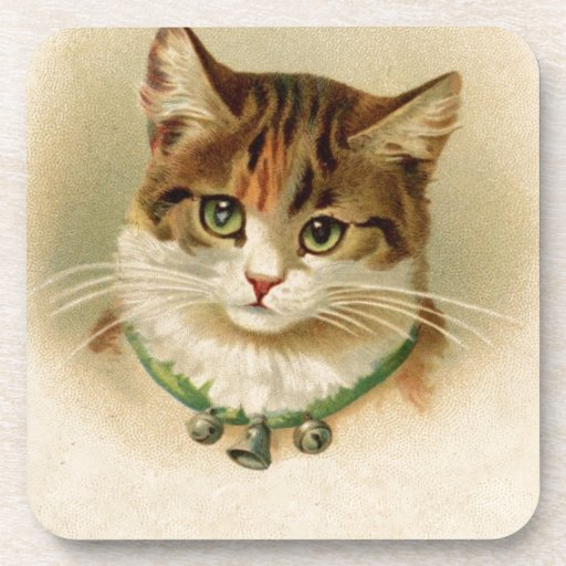 Victorian Cat Drink Coaster
