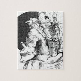 victorian cat final jigsaw puzzle