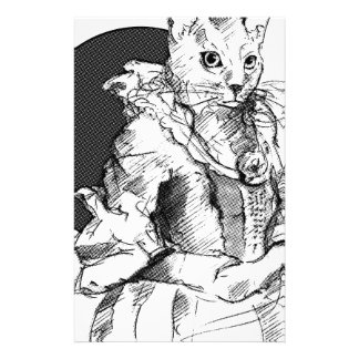 victorian cat final stationery