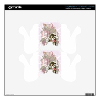 Victorian Cat Pink Roses Skin For PS3 Controller