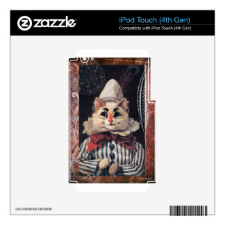Victorian Cat Rascal Jester Striped Suit iPod Touch 4G Skin
