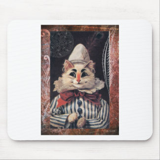 Victorian Cat Rascal Jester Striped Suit Mouse Pad