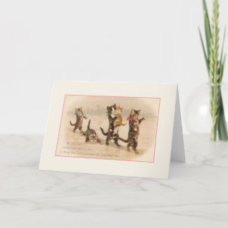 Victorian Cats and Kittens Valentine's Day Card