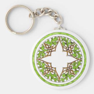 Victorian Celtic Graphic Basic Round Button Keychain