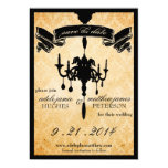 Victorian Chandelier • black & cream Save the Date Custom Announcement