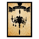 Victorian Chandelier • black & cream Thank You Cards