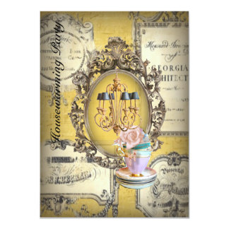 victorian chandelier new home housewarming party card