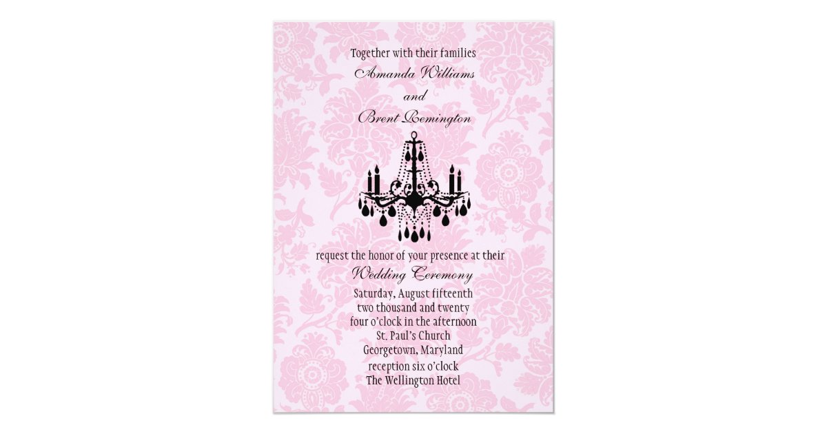 Chandelier Wedding Invitations: Victorian Chandelier Wedding Invitation