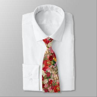 Victorian Cherub and Roses Scrapbook Chintzy Retro Tie