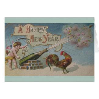 Victorian Cherub New Year Greeting Card