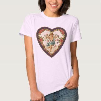 Victorian Cherub Valentine's Day Heart Shirt