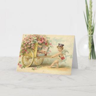 Victorian Cherub With Valentine's Day Cards