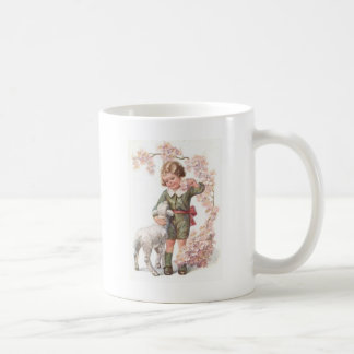 Victorian Child Lamb Cherry Tree Coffee Mug