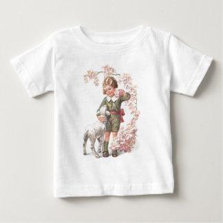 Victorian Child Lamb Cherry Tree Tee Shirt
