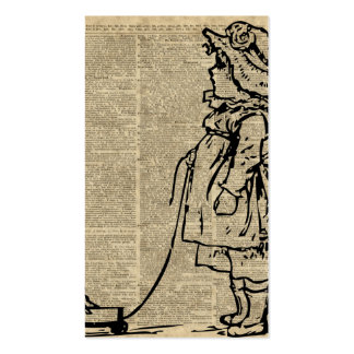 Victorian Child on a Dictionary Page Business Card
