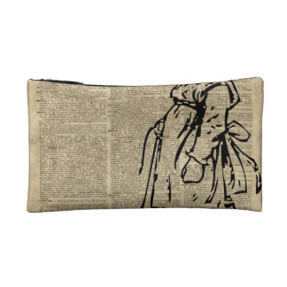 Victorian Child on a Dictionary Page Makeup Bag