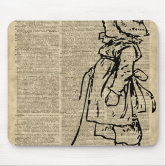 Victorian Child on a Dictionary Page Mouse Pad