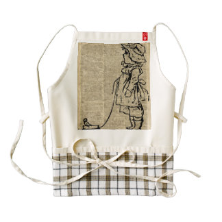 Victorian Child on a Dictionary Page Zazzle HEART Apron