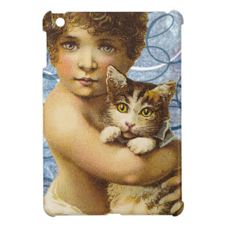 Victorian Child With Cat Hug Love Cover For The iPad Mini