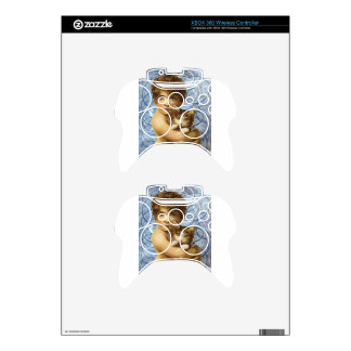 Victorian Child With Cat Hug Love Xbox 360 Controller Skins