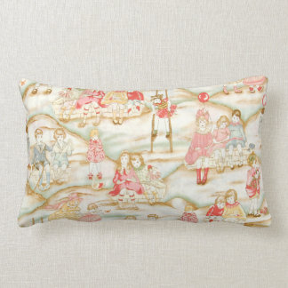 Victorian Children at Play MoJo Throw Pillow