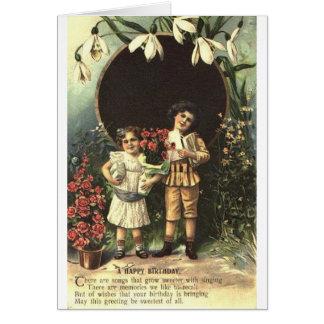 Victorian Children Birthday Card