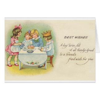Victorian Children Birthday Party Birthday Card