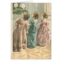 Victorian Children Christmas Card