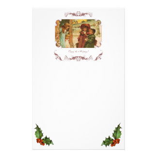Victorian Children Christmas Stationery