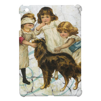 Victorian Children Dog Playing Hide Seek Case For The iPad Mini