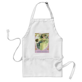 Victorian Children Easter Egg Bunny Lily Adult Apron