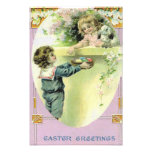 Victorian Children Easter Egg Bunny Lily Photo Print