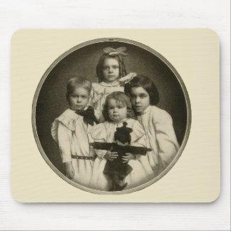 Victorian Children Funny Creepy Evil Demonic 1900s Mouse Pad