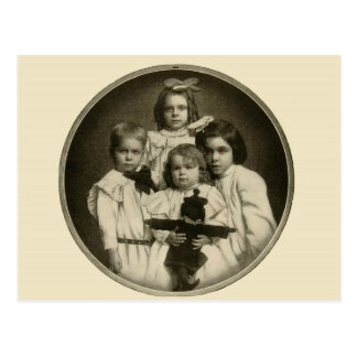 Victorian Children Funny Creepy Evil Demonic 1900s Postcard