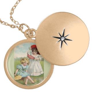Victorian Children Locket Necklace