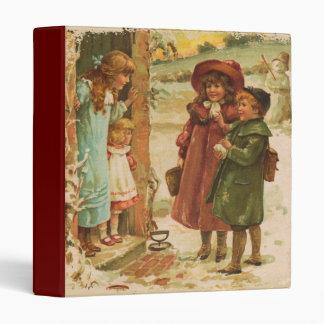 Victorian Children Painted Binder