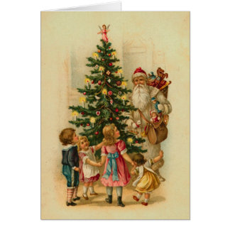 Victorian Childrens Christmas Morning Card