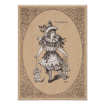 Victorian Children's Costume - Pierrot / Pierrette Poster