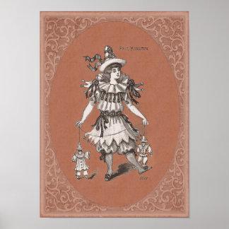 Victorian Children's Costume - Pierrot / Pierrette Print