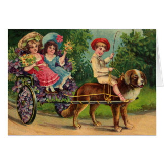 Victorian Children's Parade Greeting Card