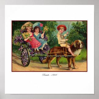 Victorian Children's Parade Poster