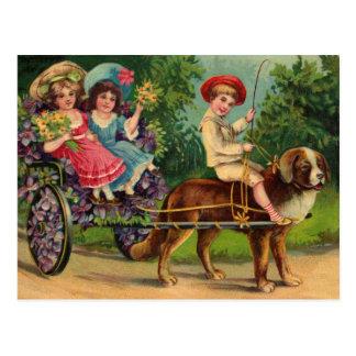 Victorian Children's Parade Vintage Postcard