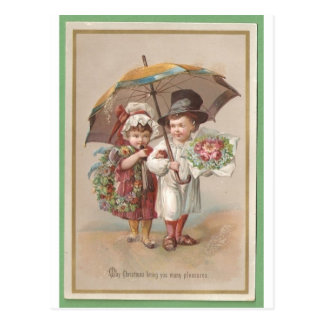 Victorian Christams Greeting Card 1885